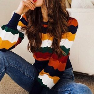 """Forever21 Striped Sweater """"like new"""""""